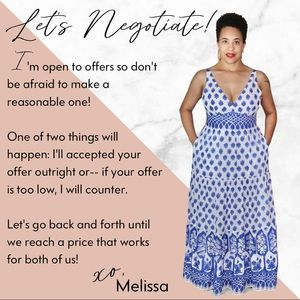 Have you sent me an offer yet? Let negotiate!